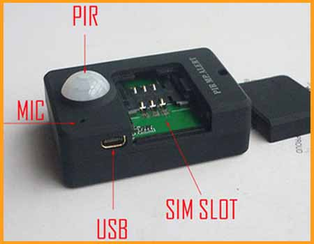 Mini Infrared Sensor Spy GSM Bug Audio