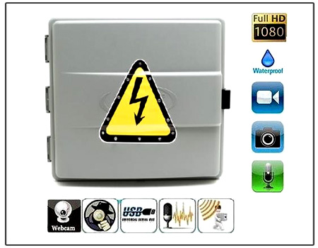 Spy Wi-Fi Electric Junction Box Ip Outdoor Camera